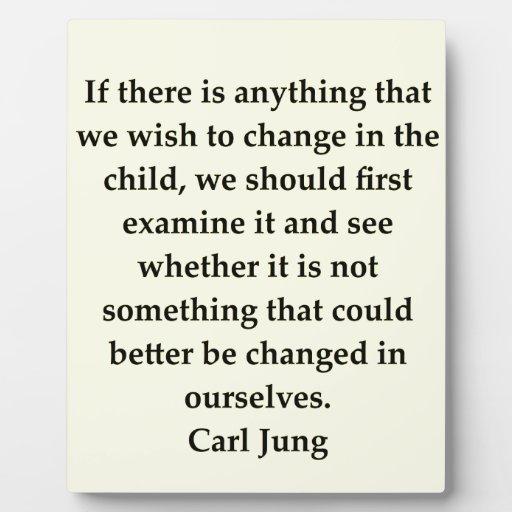 cita de Carl Jung Placa De Madera