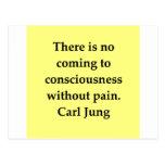 cita de Carl Jung Postales