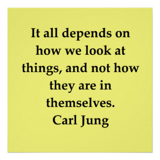 cita de Carl Jung Póster