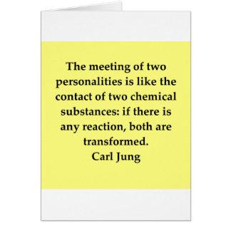 cita de Carl Jung Tarjeta De Felicitación