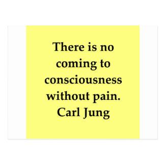 cita de Carl Jung Tarjeta Postal