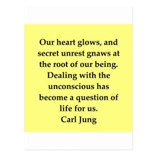 cita de Carl Jung Tarjetas Postales