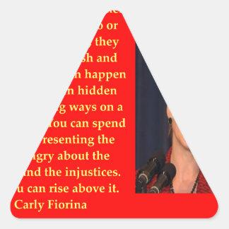 Cita de Carly Fiorina Pegatina Triangular