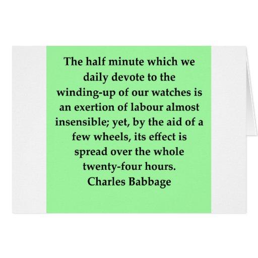 Cita de Charles Babbage Felicitaciones