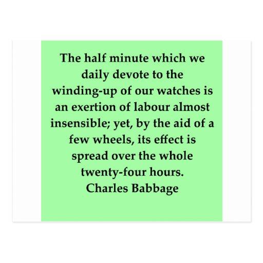 Cita de Charles Babbage Tarjetas Postales