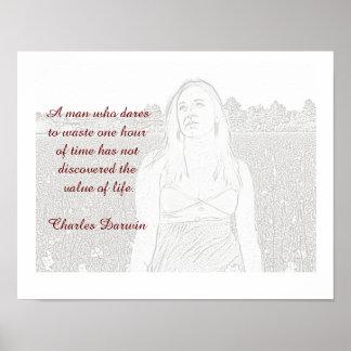 Cita de Charles Darwin - poster