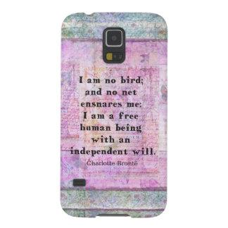 Cita de Charlotte Bronte sobre independencia Fundas De Galaxy S5