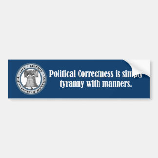 Cita de Charlton Heston (corrección política) Etiqueta De Parachoque