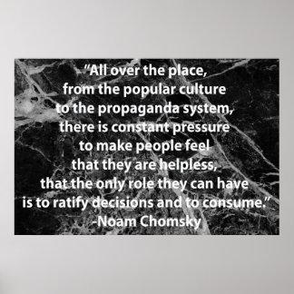 Cita de Chomsky Póster