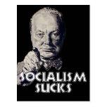 Cita de Churchill: ¡El socialismo chupa! Postal