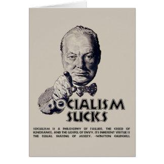 Cita de Churchill:  ¡El socialismo chupa! Felicitaciones