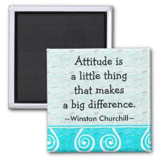 Cita de Churchill - imán de motivación