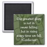 Cita de Confucio - imán de motivación