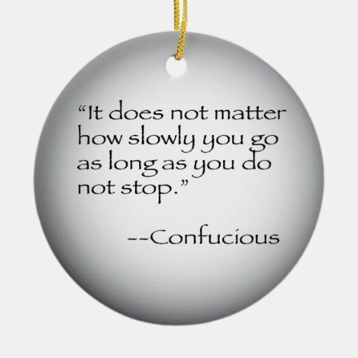 Cita de Confucious Adornos De Navidad