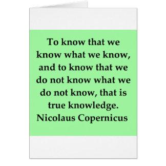 cita de copernicus tarjeta