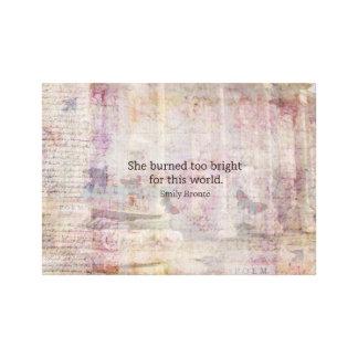 Cita de Cumbres borrascosas de Emily Bronte Impresión En Lona Estirada