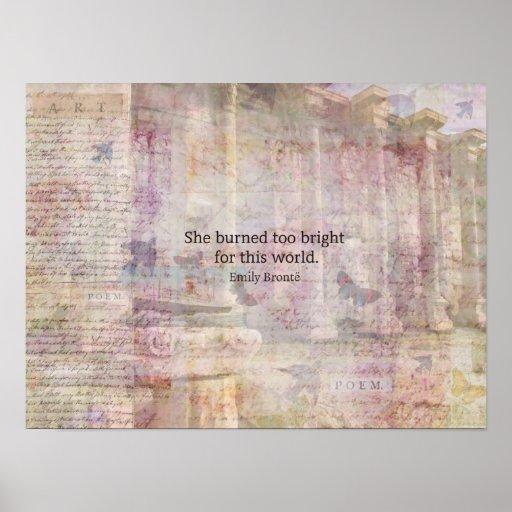 Cita de Cumbres borrascosas de Emily Bronte Póster