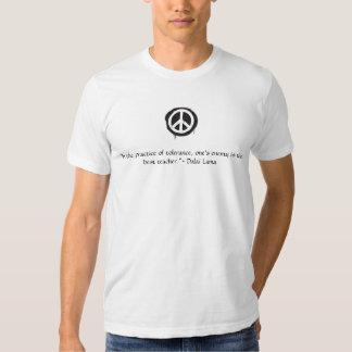 Cita de Dalai Lama del signo de la paz Playera
