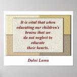 Cita de Dalai Lama - poster