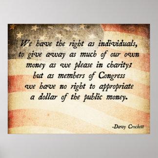 Cita de Davy Crockett Póster