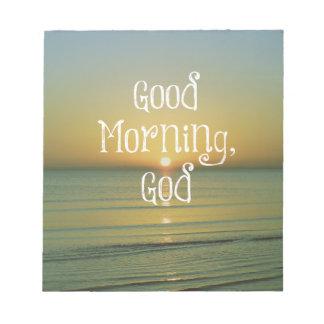 Cita de dios de la buena mañana bloc de notas