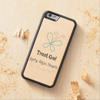 Cita de dios de la confianza funda de iPhone 6 bumper arce