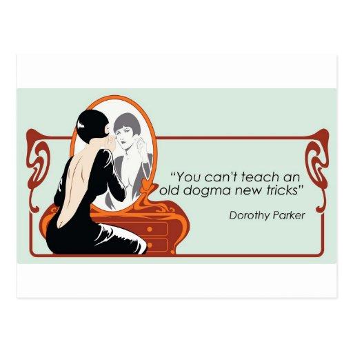 Cita de Dorothy Parker Tarjeta Postal