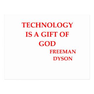 cita de dyson del freeman tarjetas postales