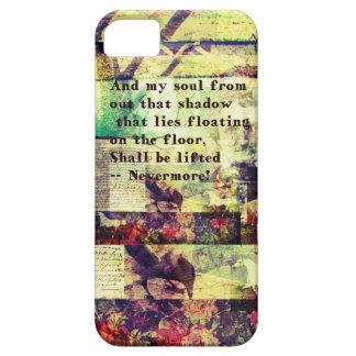 Cita de Edgar Allan Poe nunca más iPhone 5 Case-Mate Cobertura