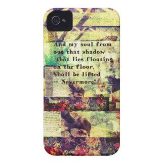 Cita de Edgar Allan Poe nunca más iPhone 4 Protectores