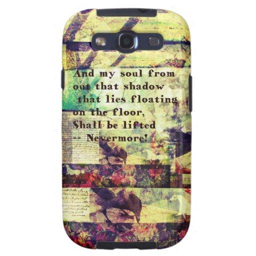Cita de Edgar Allan Poe nunca más Samsung Galaxy S3 Carcasas