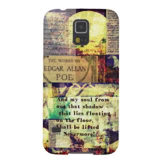 Cita de Edgar Allan Poe nunca más Fundas De Galaxy S5