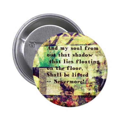 Cita de Edgar Allan Poe nunca más Pin