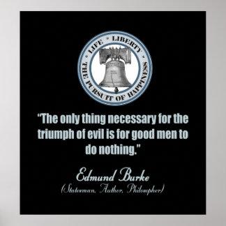 Cita de Edmund Burke (buen mal de v) Impresiones