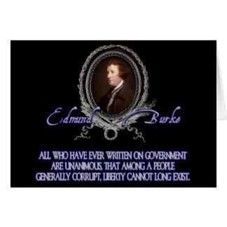 Cita de Edmund Burke:  Libertad entre el corrupto Felicitaciones