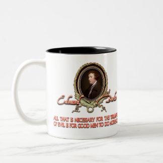 Cita de Edmund Burke Triunfos malvados Tazas De Café
