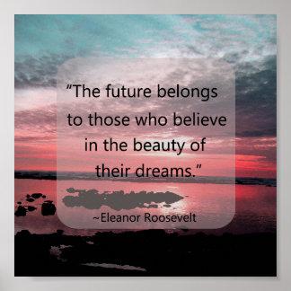 Cita de Eleanor Roosevelt Posters