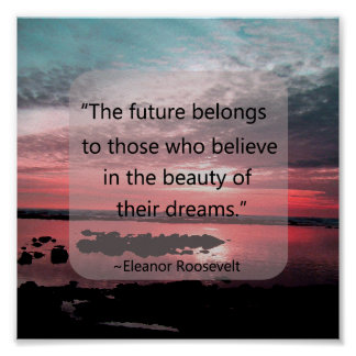 Cita de Eleanor Roosevelt Póster