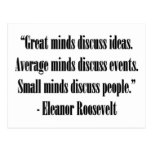 Cita de Eleanor Roosevelt Tarjeta Postal