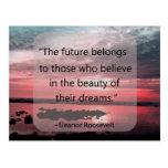 Cita de Eleanor Roosevelt Tarjetas Postales