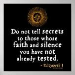 Cita de Elizabeth I en confianza Poster