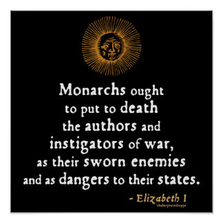 Cita de Elizabeth I en guerra Impresiones