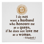 Cita de Elizabeth I en maridos Impresiones