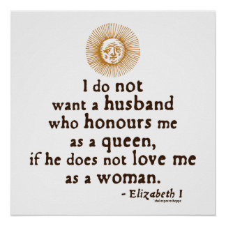 Cita de Elizabeth I en maridos Póster