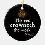 Cita de Elizabeth I en trabajo Adornos De Navidad