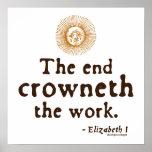 Cita de Elizabeth I en trabajo Impresiones
