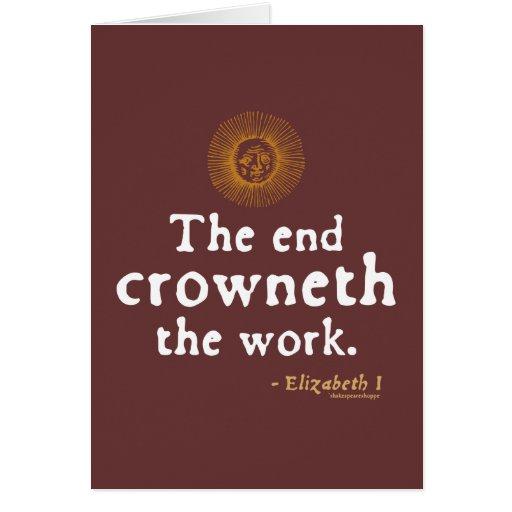 Cita de Elizabeth I en trabajo Tarjeton