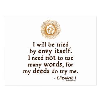 Cita de Elizabeth I sobre el juicio Tarjeta Postal