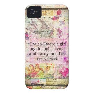 Cita de Emily Bronte sobre la libertad iPhone 4 Case-Mate Funda