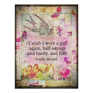 Cita de Emily Bronte sobre la libertad Impresiones